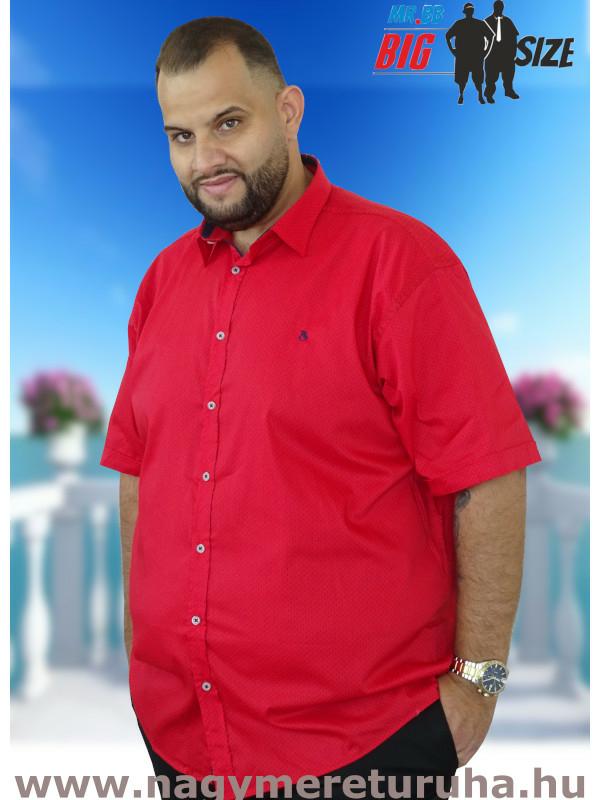 Férfi nagyméretű piros ing