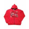 Piros kapucnis pulóver