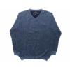 Kép 1/3 - kek-kotott-pulover1
