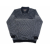 Kép 1/4 - a-ferfi-nagymeretu-sotetkek-szurke-galleros-zsebes-pulover1