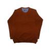 Kép 1/3 - a-nagymeretu-kerek-nyaku-rozsdavoros-pulover1