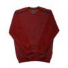 Kép 1/4 - s-bordo-mintas-pulover-nagymeret1