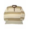 Kép 1/4 - t-barna-csikos-galleros-pulover-nagymeretu1