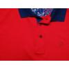 Kép 3/4 - piros-nagymeretu-virag-galleros-rovid-ujju-polo2