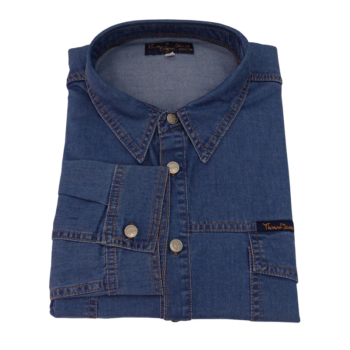 T. Kék farmer hosszú ujjú ing