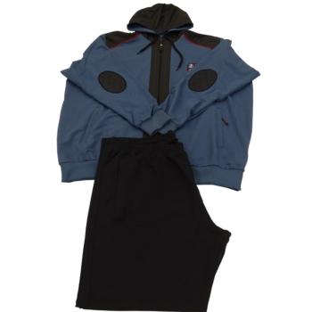 R. Kék kapucnis melegítő