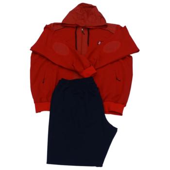 R. Piros kapucnis melegítő