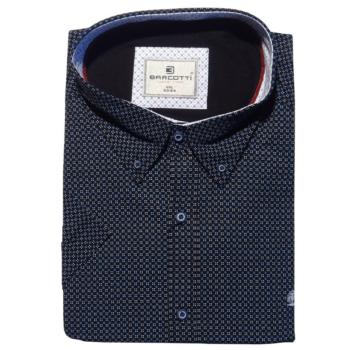 B. Fekete fehér Extra Nagy rövid ujjú ing