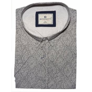 B. Fekete, fehér virágos Extra Nagy rövid ujjú ing