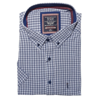 B. Kék kockás Extra Nagy rövid ujjú ing