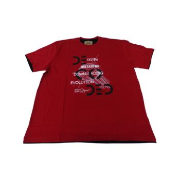 P. Piros Breakdown, rövid ujjó póló