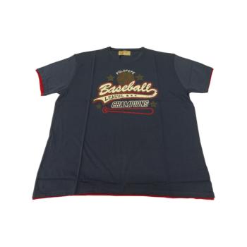 P. Sötétkék Baseball, rövid ujjú póló
