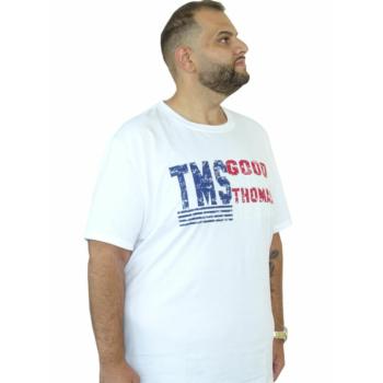 T. Fehér feliratos, rövid ujjú póló