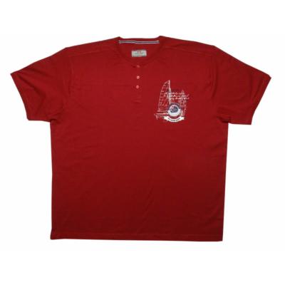 PP. Extra Nagy, Piros, gombos rövid ujjú póló