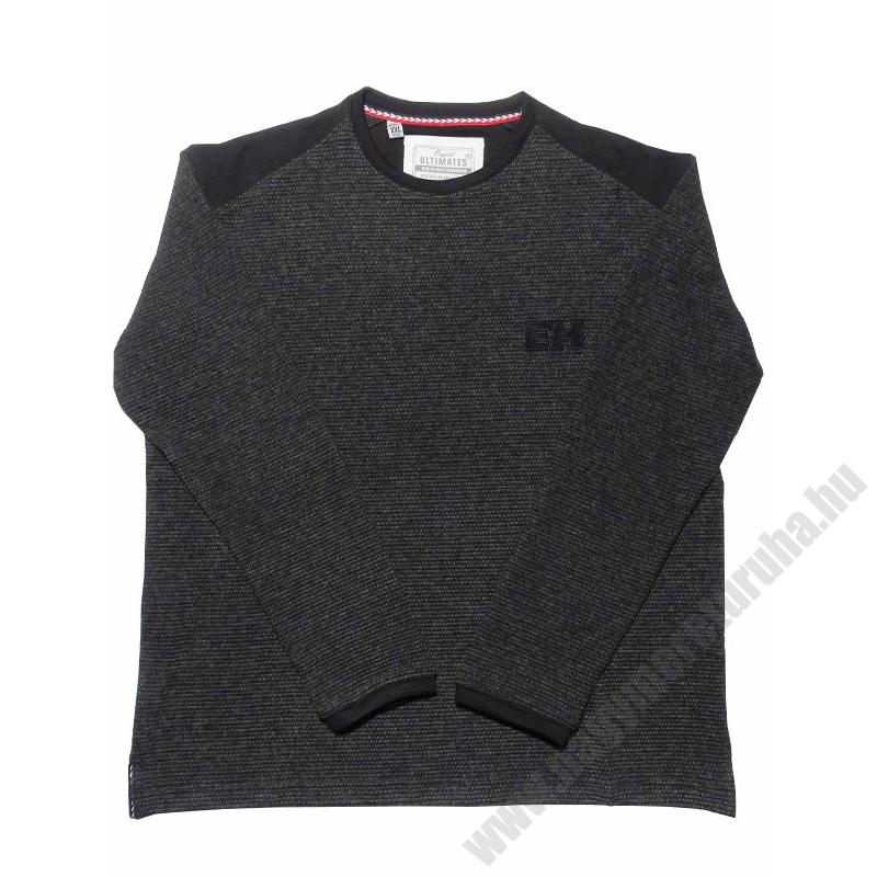 u-fekete-bordazott-pulover-nagymeret1